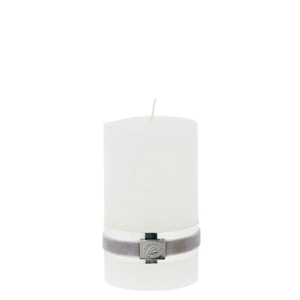 Lene Bjerre Rustic pillar candle white 12.5 cm