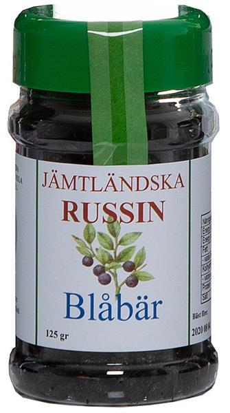 Jämtländska russin blåbär 125 g