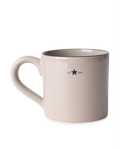 Lexington Stoneware Mug, Beige/Dk Blue