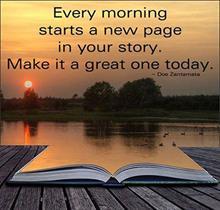 4; Varje ny dag är fylld med möjligheter