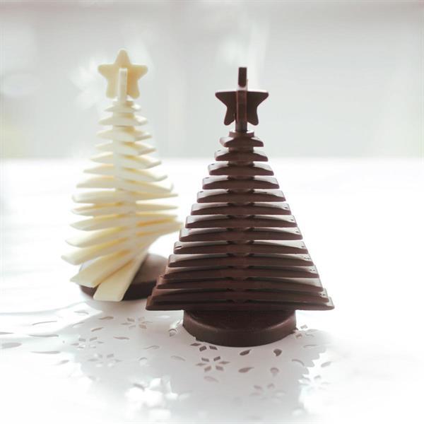 Silikomart silikonform Juletre byggesett