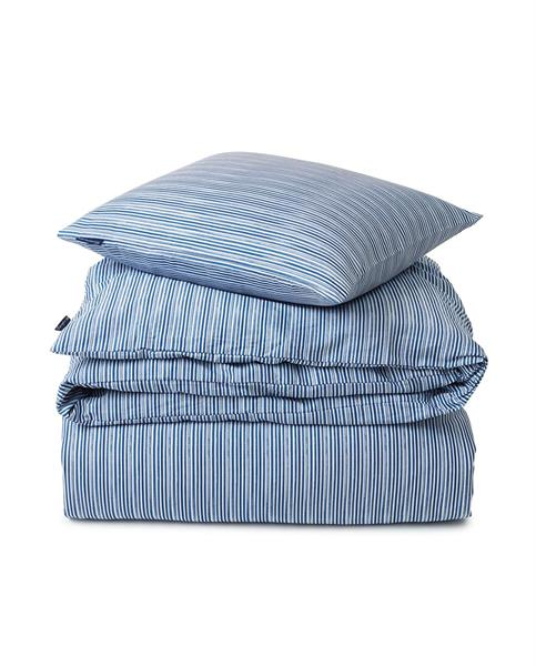 Lexington Blue Striped Organic Cotton Sateen Bed Set