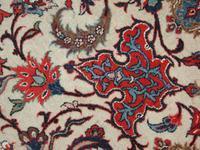 Utsnitt av et persisk Isfahan teppe i topp kvalitet