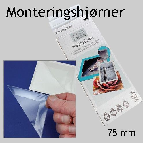 Monteringshjørner 75 mm