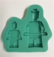 Silikonform Legolike Mann, 2 str