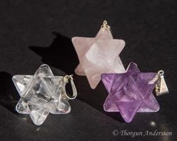 Kristallhänge Rosenkvarts Merkaba