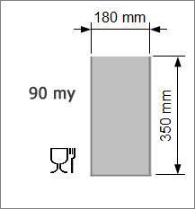 Vakuumpåse 180 x 350 mm, 90 my