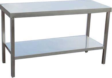 Rostfritt bord 100 x 60 cm