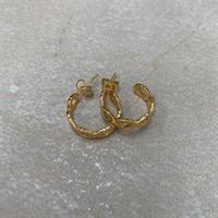 Three M Earrings, Gold