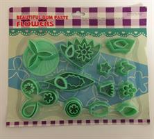 Utstikkersett Blomster (grønt sett)