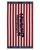 Lexington Graphic Cotton Velour Beach Towel, Red/White
