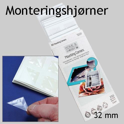 Monteringshjørner 32 mm