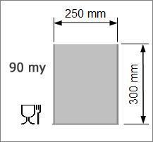 Vakuumpåse 250x300 mm, 90 my