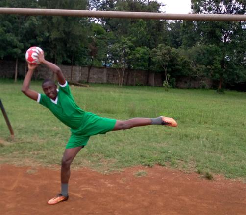 Obine - hot goalkeeper in the school football team