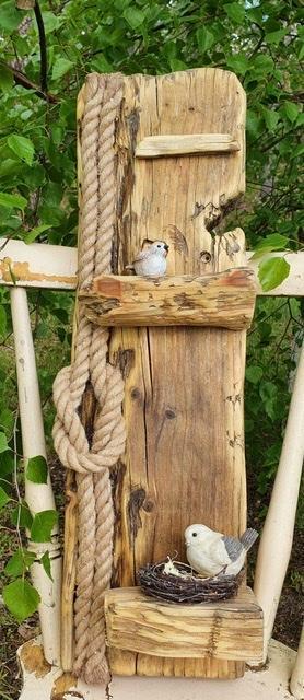 Drivvedstavla fåglar