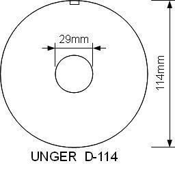 Mått på kvarnskivor D-114