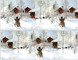 Julpapper Gården och brygghuset