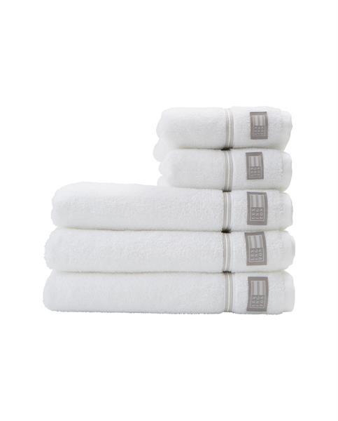 Lexington Hotel Towel 50 x 70 cm, White/Beige