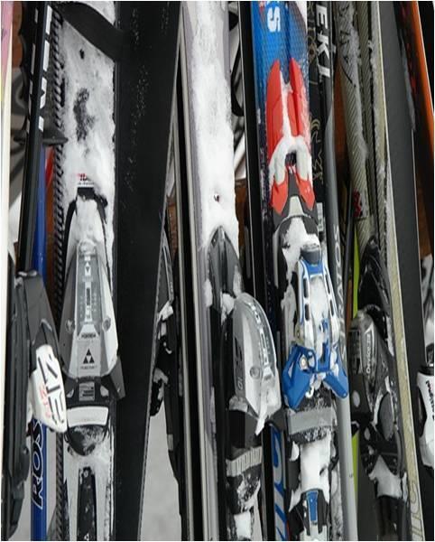 Byttekveld av skiutstyr