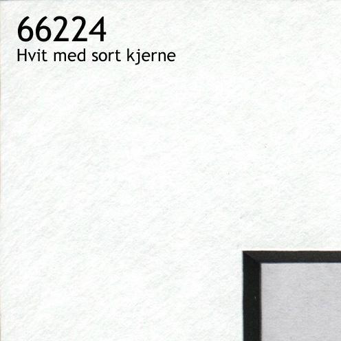 66224 hvit med sort kjerne