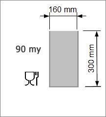 Vakuumpåse 160 x 300 mm, 90 my