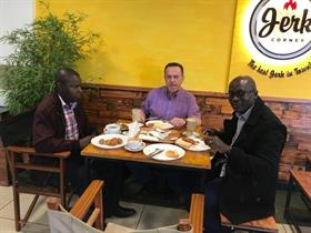 Breakfast together with our friends Robert and Eric