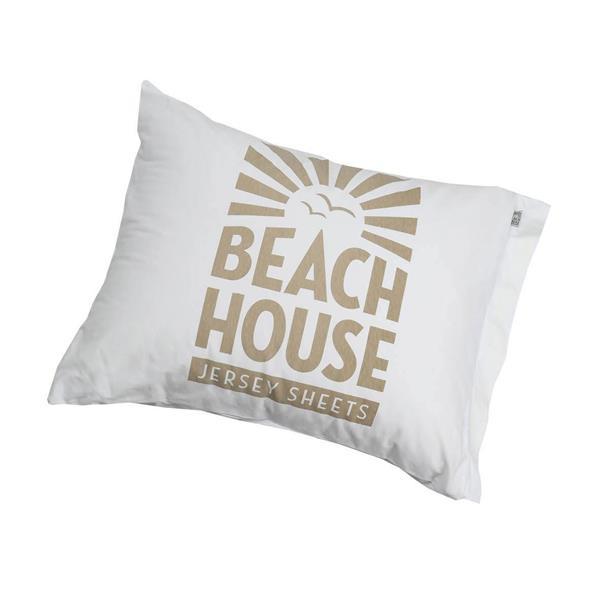 Beach House Pillowcase, Logo