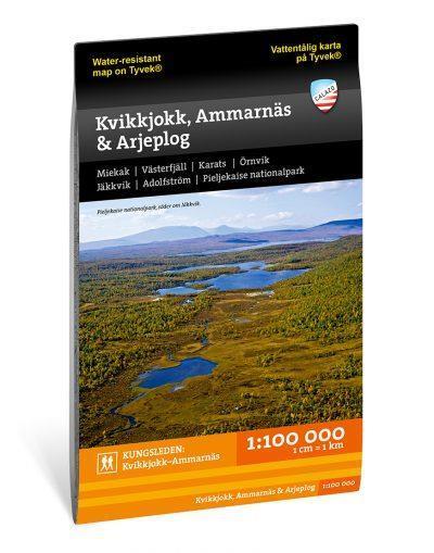Fjällkarta Kvikkjokk, Ammarnäs, Arjeplog 1:100.000