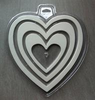 Silikonform sjokolade/sukkertøy Hjerte