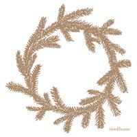 Tine K Home Papernapkins w. Pine Wreath, Camel