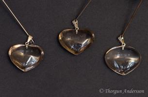 Kristallhänge Rökkvart Hjärta