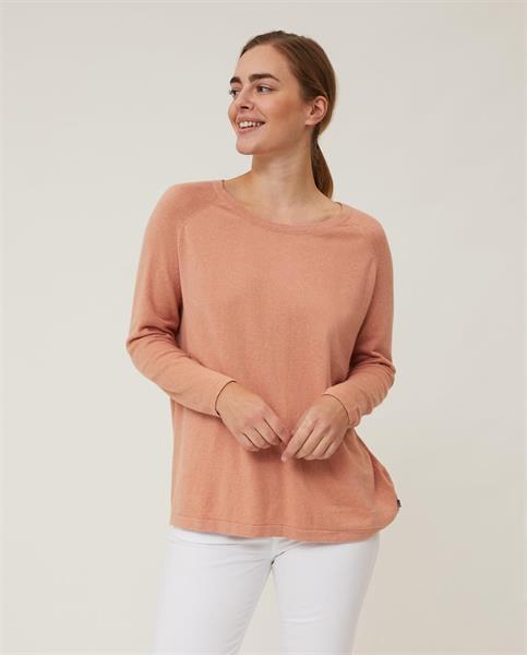 Lexington Lea Cotton/Cashmere Sweater, Pink Melange