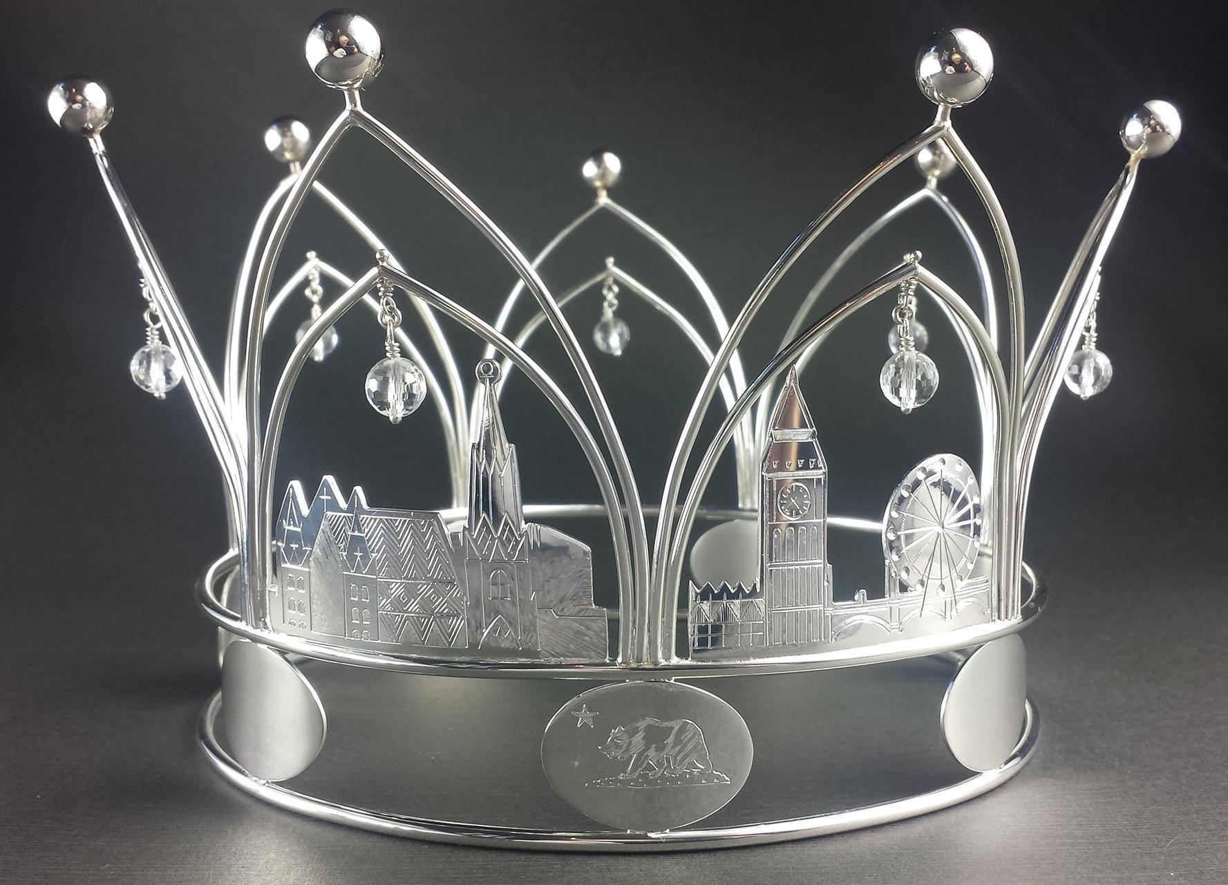 Brudekrone i sølv. Custom-made.