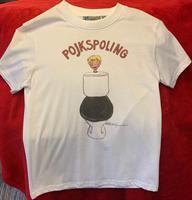 T-shirt Pojkspoling 130-140 vit