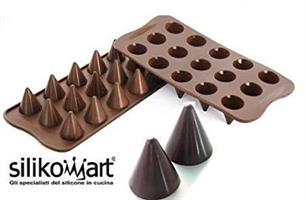 Sjokoladeform Kremmerhus Kjegle, Silikomart