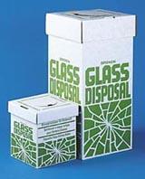 GLASS DISPOSAL BOX,LARGE,PKG/6
