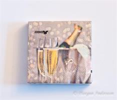 Servett 25x25 Champagne