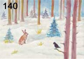 Jäniksen talvi kortti