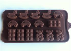 Silikonform sjokoladefigurer 15 (B0044)