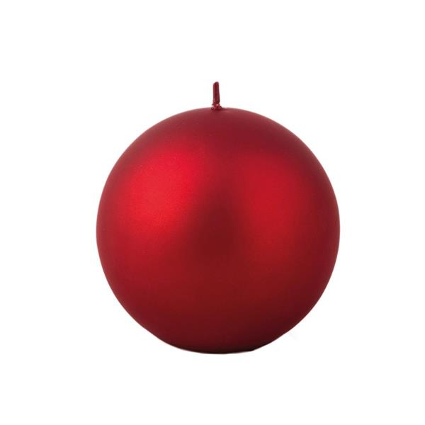 Balmuir Velvet Pallokynttilä, Punainen 10 cm