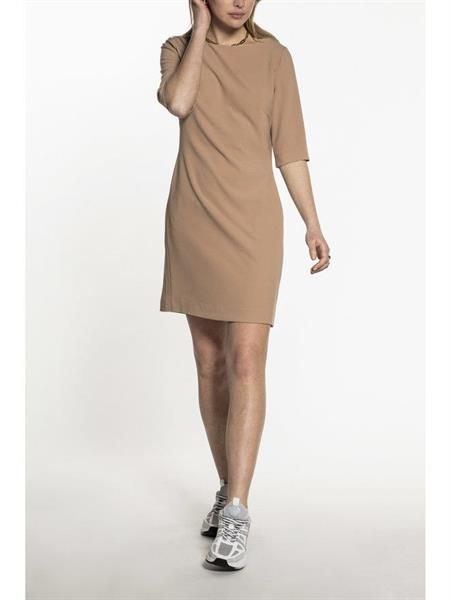 Beaumont Crepe suiting dress, Camel