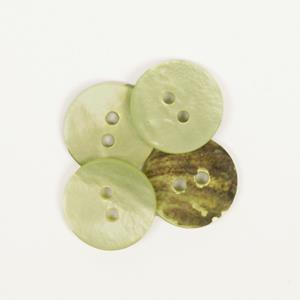Perlemorknapp grønn 15 mm