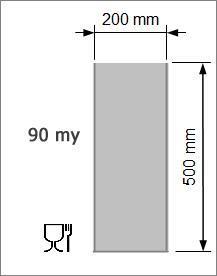Vakuumpåse 200 x 500 mm, 90 my
