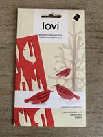 Lovikort Minifåglar Röd 5 cm  3D-pussel
