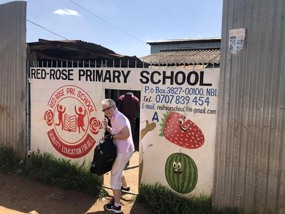 Entering Red Rose School compound