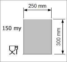 Vakuumpåse 250 x 300 mm 150 my