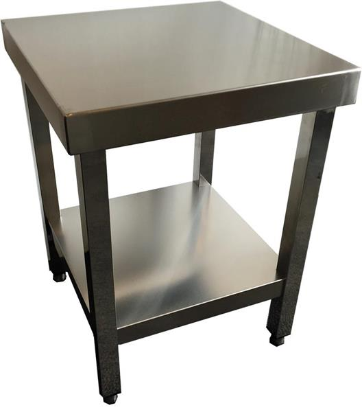 Rostfri bänk 50x50x65 cm
