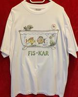 T-shirt Fiskar M vit