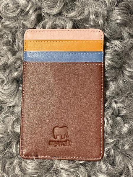 Kreditkortsfodral stående nr.128 Sienna Mywalit