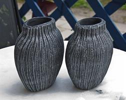 Vas oval, Sv/silver slät